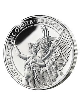 2021 1 oz St Helena The Queen's Virtues - Victory .999 Silver Proof Coin
