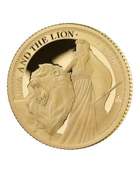 2020 St Helena 1/4 oz Una and the Lion .9999 Gold Proof Coin