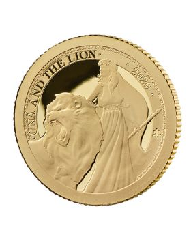 2020 1/2 gram St Helena Una and the Lion .9999 Gold Proof Coin