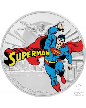 2020 1 oz Niue Justice League 60th Anniversary - Superman .999 Silver Proof Coin