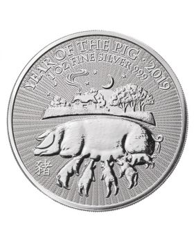 2019 1 oz Britain Lunar Year of The Pig.999 Fine Silver Brilliant Uncirculated Coin