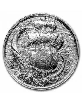 2oz Ultra High Relief .999 Silver Round - The Karken - Privateer 4