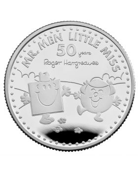 2021 1/2 oz Great Britain The 50th Anniversary of  Mr Men Little Miss - Mr Strong and Little Miss Giggles .999 Silver Proof Coin  ( Coin 2)
