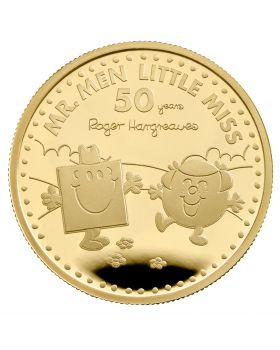 2021 1oz Great Britain The 50th Anniversary of  Mr Men Little Miss - Mr Strong and Little Miss Giggles .9999 Gold Proof Coin  ( Coin 2)