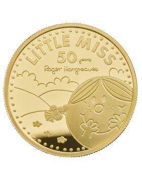 2021 1 oz Great Britain The 50th Anniversary of  Mr Men Little Miss- Little Miss Sunshine .9999 Gold Proof (Coin 3 )