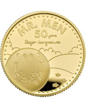2021 1/4oz Great Britain The 50th Anniversary of  Mr Men Little Miss- Mr. Happy .9999 Gold Proof Coin (Coin 1)