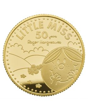 2021 1/4 oz Great Britain The 50th Anniversary of  Mr Men Little Miss- Little Miss Sunshine .9999 Gold Proof (Coin 3 )