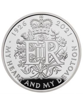 2021 56.56g  Great Britain The 95th Birthday of Her Majesty The Queen .925 Silver Piedfort Proof Coin