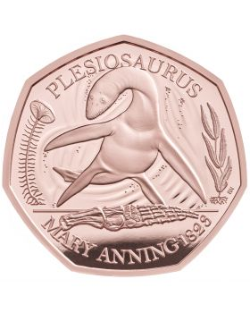 2021 15.5g Great Britain The Mary Anning Collection-Plesiosaurus .9167 Gold Proof Coin