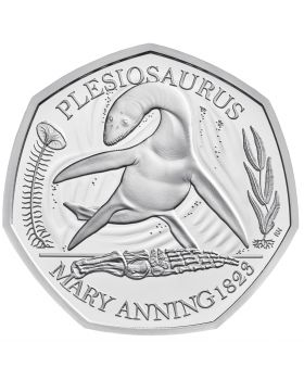 2021 8g Great Britain The Mary Anning Collection- Plesiosaurus.925 Silver Proof Coin