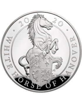 2020 5 oz Great Britain Queen's Beasts - The White Horse of Hanover .999 Silver Proof Coin