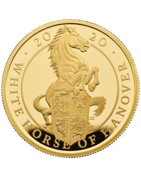 2020 1 oz Great Britain Queen's Beasts - The White Horse of Hanover .9999 Gold Proof Coin