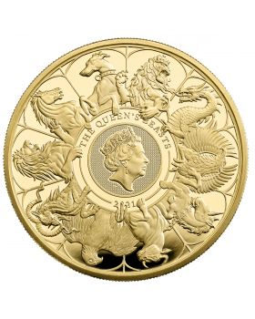 2021 5oz Great Britain Queen's Beasts Completer .9999 Gold Proof Coin
