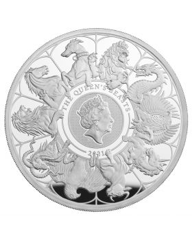 2021 5oz Great Britain Queen's Beast Completer .999 Silver Proof Coin