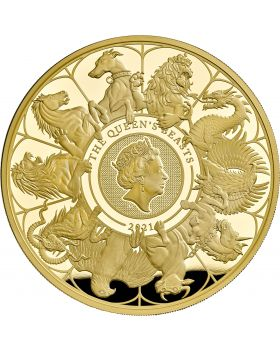 2021 1oz Great Britain Queen's Beasts Completer .9999 Gold Proof Coin