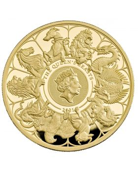2021 10oz Great Britain Queen's Beasts Completer .999 Gold Proof Coin