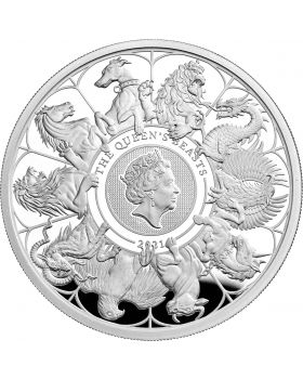 2021 2 oz Great Britain Queen's Beasts Completer .999 Silver Proof Coin (LPM Exclusive)
