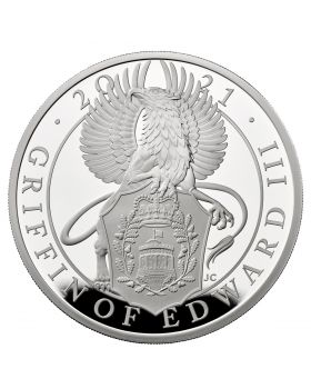 2021 10 oz Great Britain Queen's Beasts - The Griffin Of Edward III.999 Silver Proof Coin