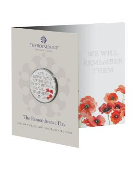2021 28.28gram Great Britain The Remembrance Day Cupro-Nickel Coin
