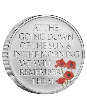 2021 56.56gram Great Britain The Remembrance Day .925 Silver Piedfort Proof Coin