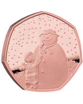 2021 15.5 gram Great Britain The Snowman .9167 Gold Proof Coin