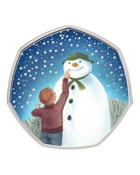 2021 8 gram Great Britain The Snowman .925 Silver Proof Coloured  Coin