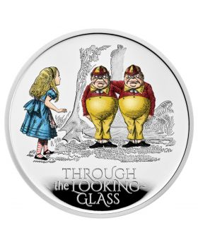 2021 1oz Great Britain  Through The Looking Glass .999 Silver Proof Coin