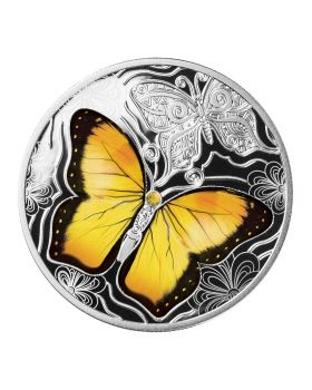2021 17.5g Cameroon Colorful World of Butterflies .999 Silver Proof Coin