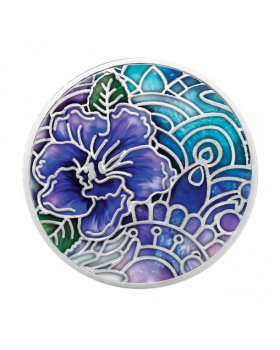 2020 17.5 gram Cameroon Language of flowers - Pansy .999 Silver Proof Coin