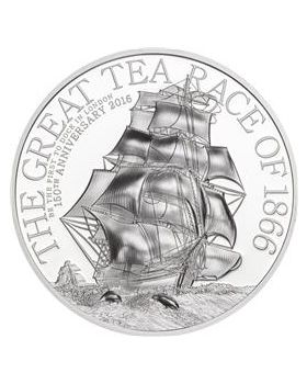 2016 1 oz Cook Islands The Great Tea Race Ultra-High Relief .999 Silver Proof Coin