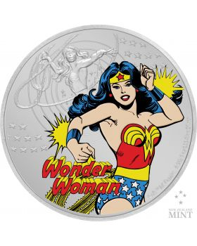 2020 1 oz Niue Justice League 60th anniversary Wonder Woman 999 Coloured Silver Proof Coin