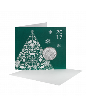 2017 28.28 gram Britain The Christmas Tree Brilliant Uncirculated Coin