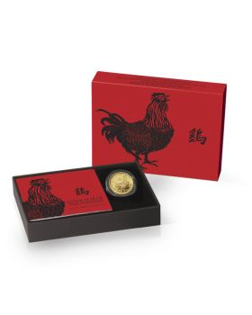 2017 1/10 oz Britain Lunar Year of the Rooster .9999 Gold Coin