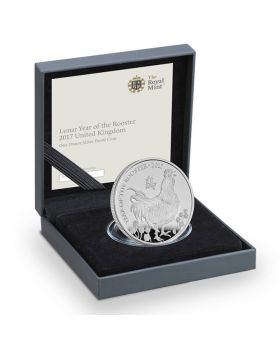 2017 1 oz Britain Lunar of the Rooster 999 Silver Proof Coin