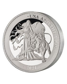 2021 1 Kg St Helena Una and the Lion .999 Silver Proof Coin