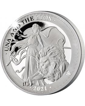2021 1 oz St Helena Una and the Lion .999 Silver Proof Coin