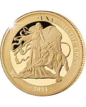 2021 1 oz St Helena Una and the Lion .9999 Gold Proof Coin