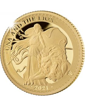 2021 1/4 oz St Helena Una and the Lion .9999 Gold Proof Coin