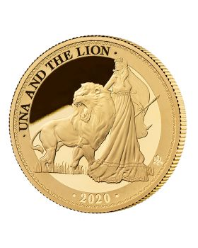2020 St Helena 1oz Una and the Lion .9999 Gold Proof Coin