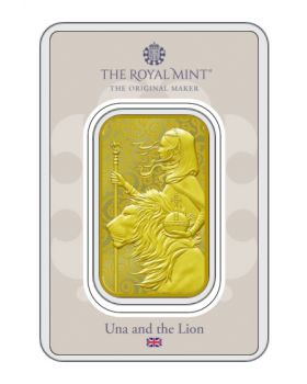 2021 1 oz Great Britain The Great Engravers Collection : Una And The Lion .9999 Gold Bar