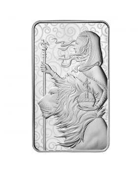 2021 100 oz Great Britain The Great Engravers Collection : Una And The Lion .9999 Silver Bar