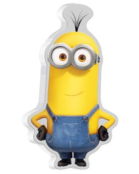 2021 1oz Niue The Minion Shape Kevin .999 Silver Proof  Coloured Coin