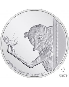2021 1oz Niue Harry Potter -Dobby The house Elf .999 Silver Proof Coin