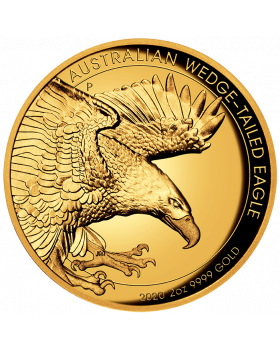 2020 2 oz Australia Wedge Tailed Eagle .9999 Gold Proof High Relief Coin
