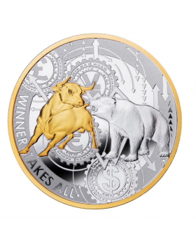 2020 1 oz Republic of Cameroon Winner Takes All .999 Silver Proof Coin