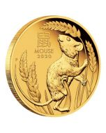 2020 1/4 oz Australia Lunar Series III - Year of The Mouse 9999 Gold Proof Coin