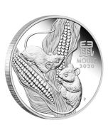 2020 1/2 oz Australia Lunar Series III Year of The Mouse 9999 Silver Proof Coin