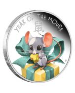 2020 1/2 oz Tuvalu Baby Mouse  9999 Silver Proof Coin