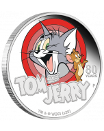 2020 1 oz Tuvalu Tom and Jerry 80th Anniversary .9999 Silver Proof Coin