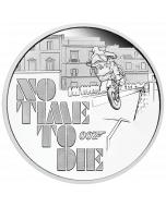 2020 1 oz Tuvalu James Bond - No Time To Die .9999 Silver Proof Coin